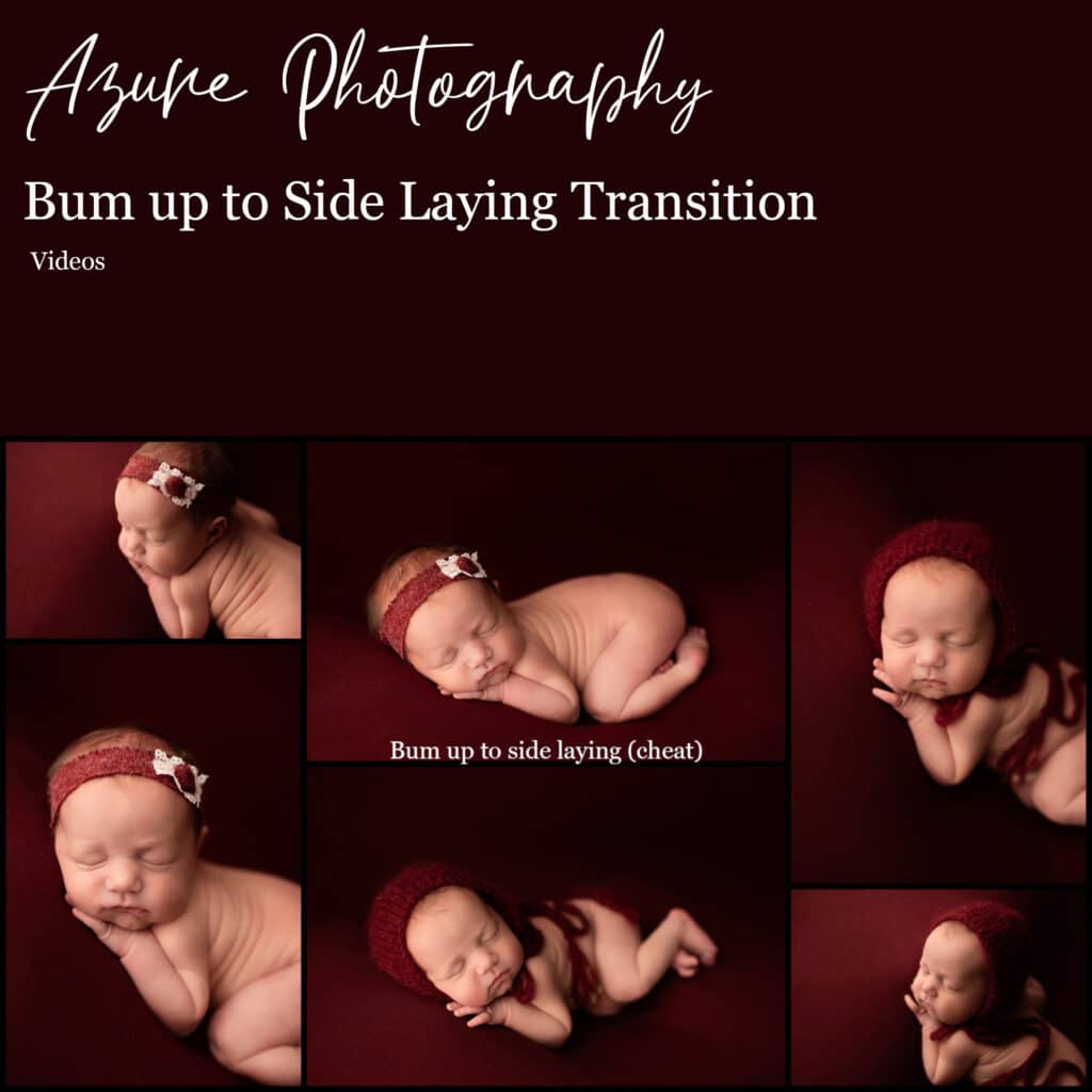 Bum up to side laying transition Pose